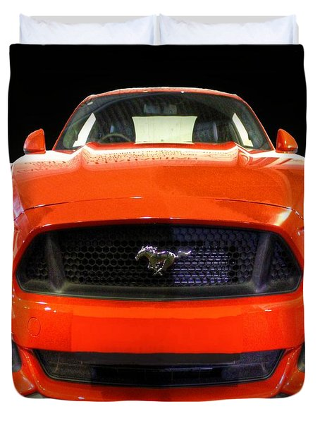 The New Mustang Duvet Cover by Vicki Spindler
