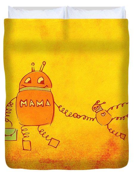 Robomama Duvet Cover