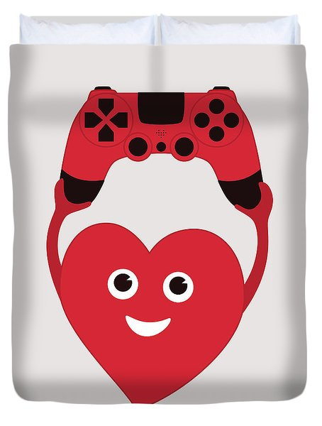 Gamer Heart Duvet Cover