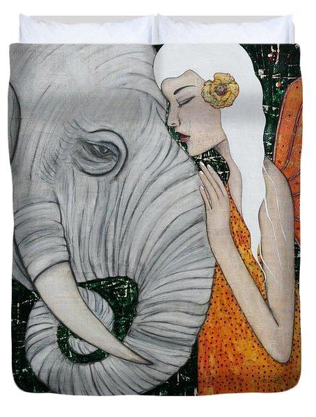 Erynn Rose Duvet Cover by Natalie Briney