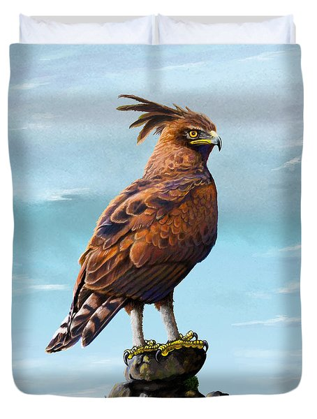 Long Crested Eagle Duvet Cover by Anthony Mwangi