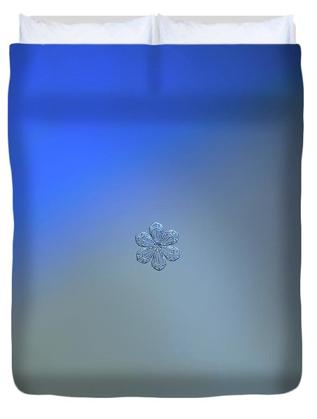 Duvet Cover featuring the photograph Snowflake Photo - Forget-me-not by Alexey Kljatov