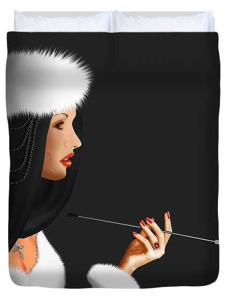 Lady Ninotschka Duvet Cover by Monika Juengling