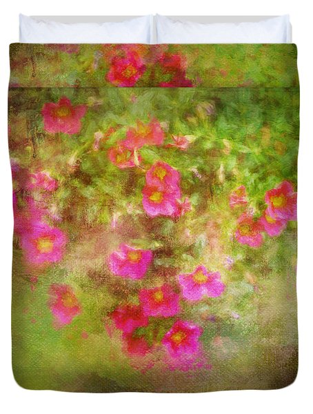 Painted Flowers Duvet Cover
