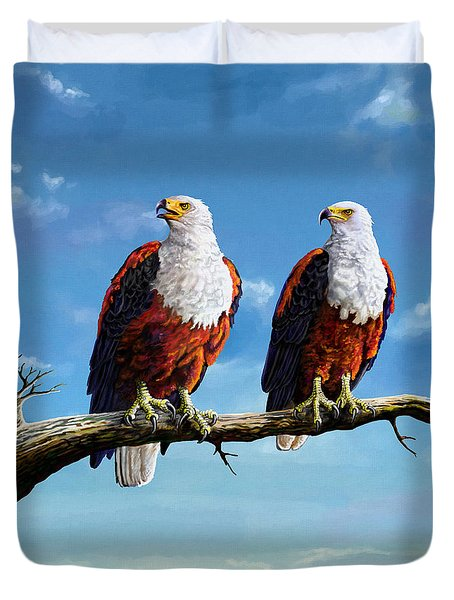 Friends Hanging Out Duvet Cover by Anthony Mwangi