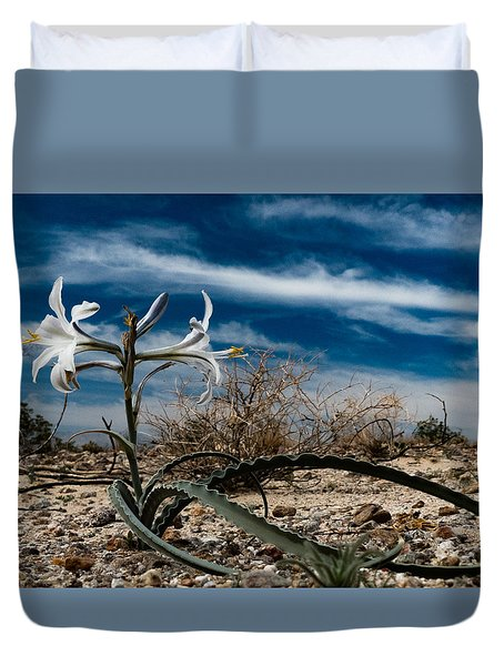 Desert Lilly Close Up Duvet Cover