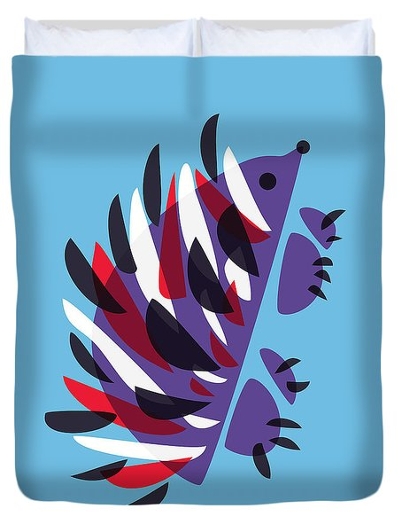 Abstract Colorful Hedgehog Duvet Cover