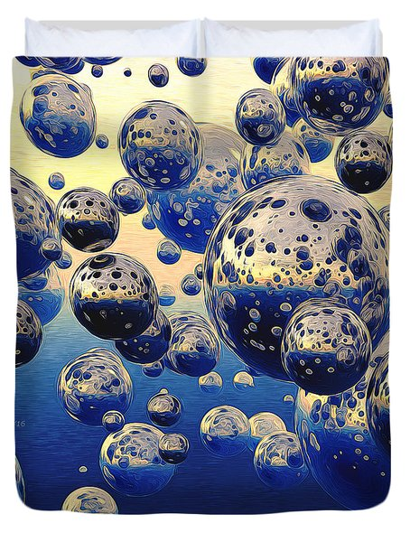 Cluster Of Bubbles Duvet Cover