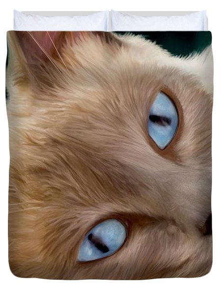 Frankie Blue Eyes Duvet Cover
