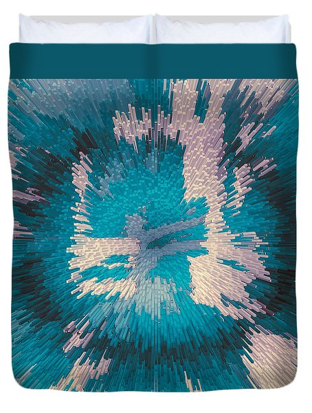 Genetic Modification Flower Duvet Cover by Moustafa Al Hatter