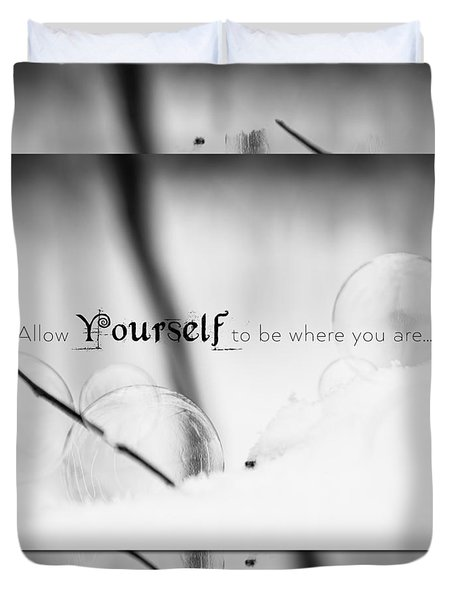 Yourself Duvet Cover