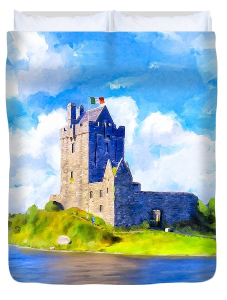On Irish Shores - Dunguaire Castle Duvet Cover