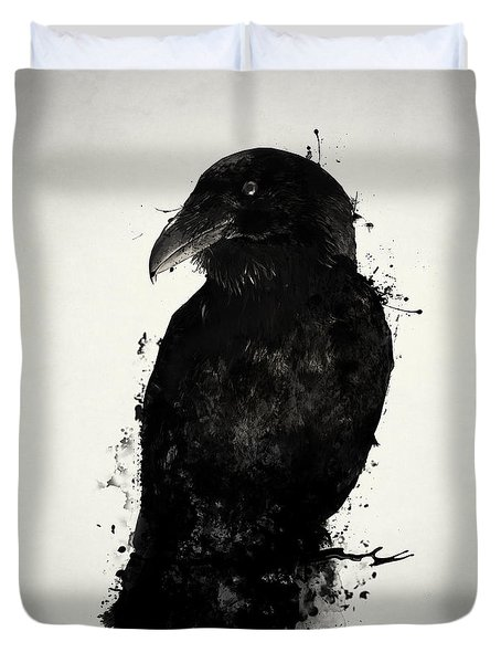 Duvet Cover featuring the photograph The Raven by Nicklas Gustafsson