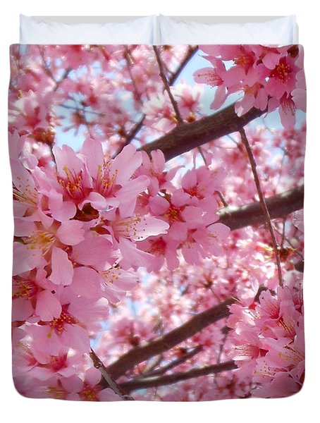 Pretty Pink Cherry Blossom Tree Duvet Cover