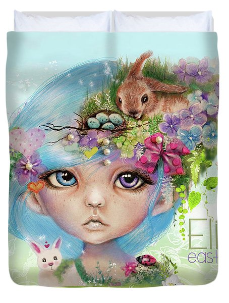 Eliza - Easter Elf - Munhkinz Character Duvet Cover by Sheena Pike