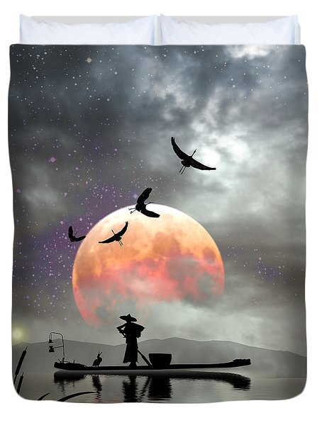 Moon Mist Duvet Cover