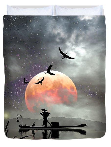 Moon Mist Duvet Cover