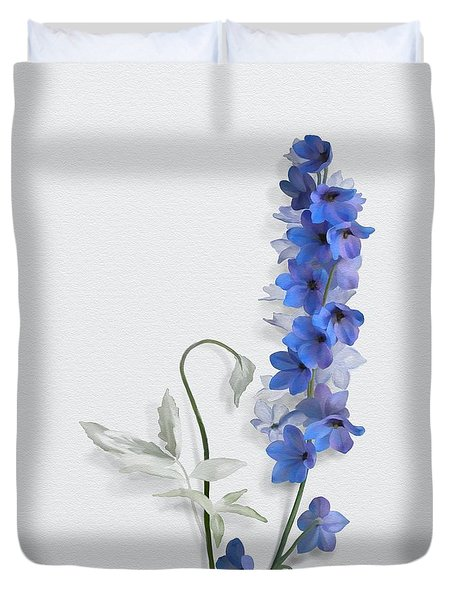 Duvet Cover featuring the painting Consolida by Ivana Westin