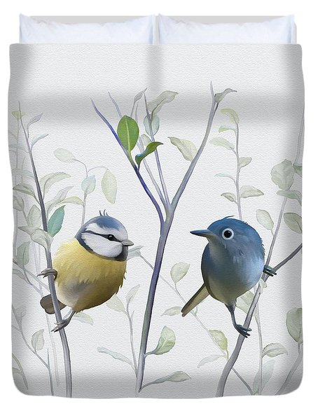 Birds In Tree Duvet Cover