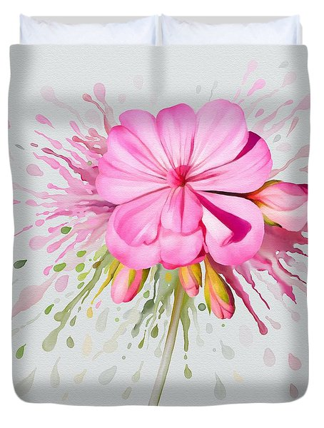 Pink Eruption Duvet Cover