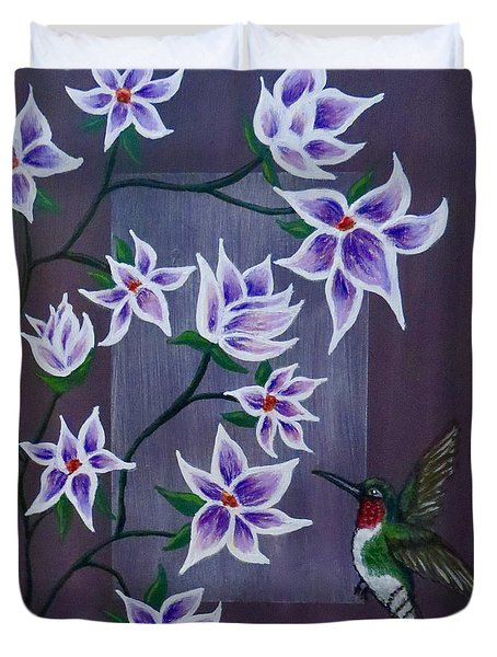 Hummingbird Delight Duvet Cover