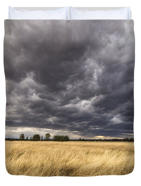 The Calm Before The Storm Duvet Cover by Linda Lees