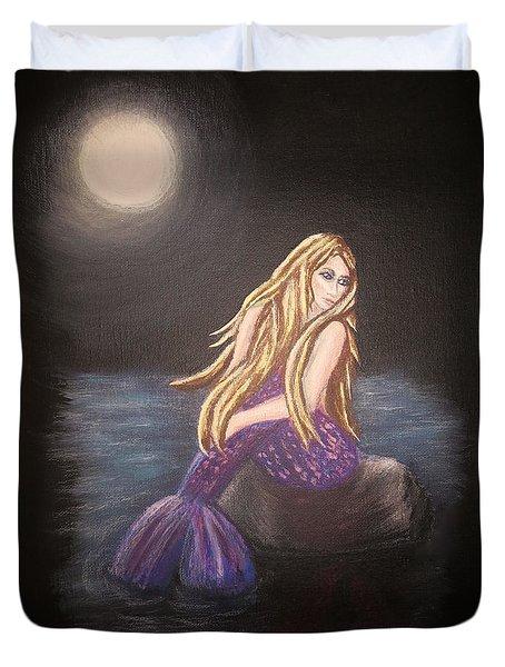 Midnight Mermaid Duvet Cover