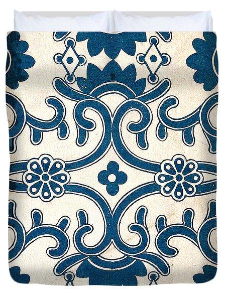 Blue Oriental Vintage Tile 02 Duvet Cover