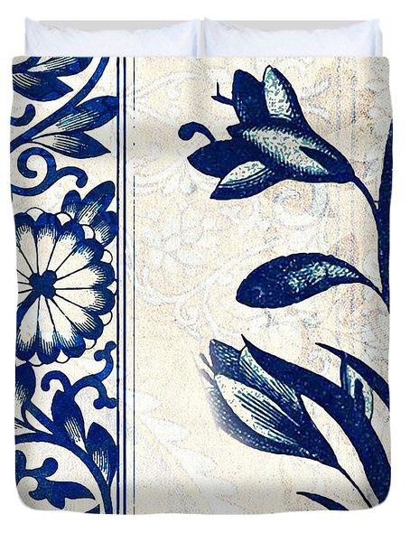 Blue Oriental Vintage Tile 03 Duvet Cover