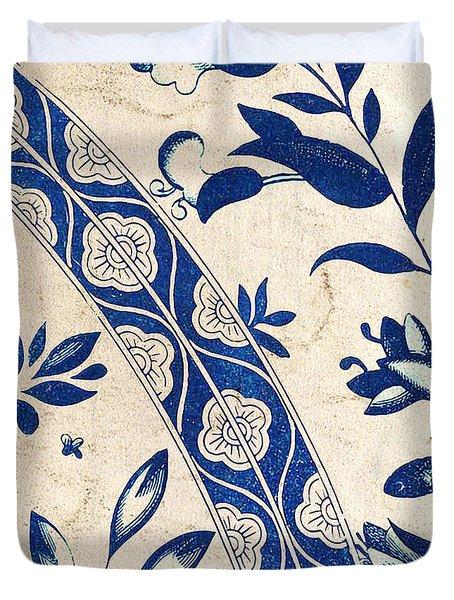 Blue Oriental Vintage Tile 04 Duvet Cover