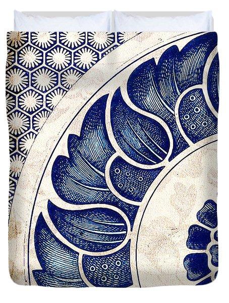 Blue Oriental Vintage Tile 05 Duvet Cover