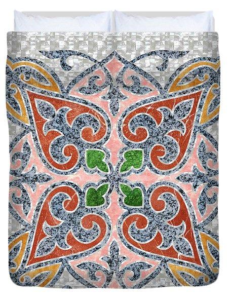Blue Oriental Tile 03 Duvet Cover