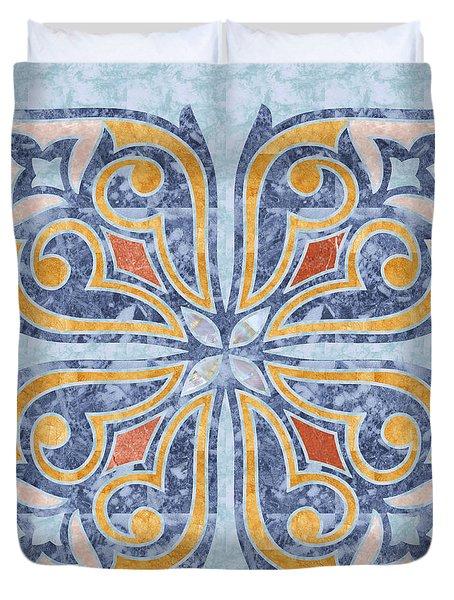 Blue Oriental Tile 04 Duvet Cover