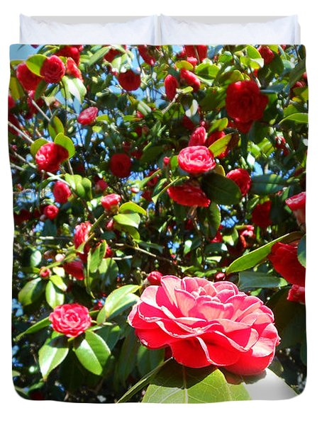 Uncommon Camellias Duvet Cover