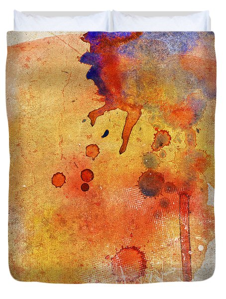 Orange Color Splash Duvet Cover