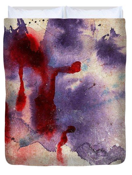 Purple Color Splash Duvet Cover