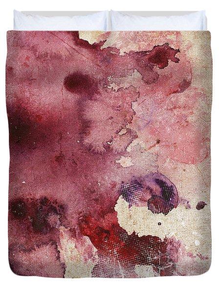 Garnet Color Splash Duvet Cover