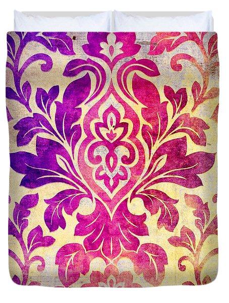 Purple Damask Pattern Duvet Cover