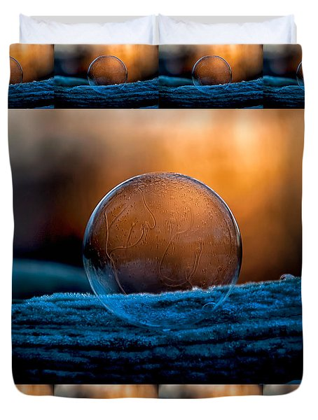 Sunrise Capture In Bubble Duvet Cover