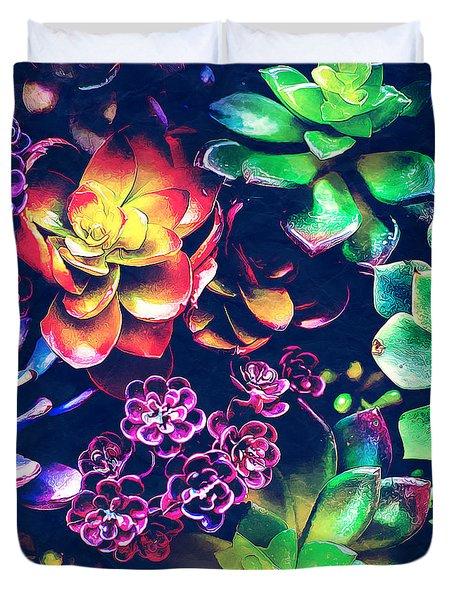 Colorful Plants  Duvet Cover