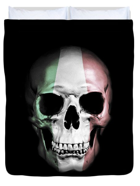 Duvet Cover featuring the digital art Italian Skull by Nicklas Gustafsson
