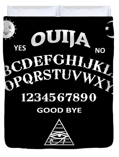 Duvet Cover featuring the digital art Ouija by Nicklas Gustafsson