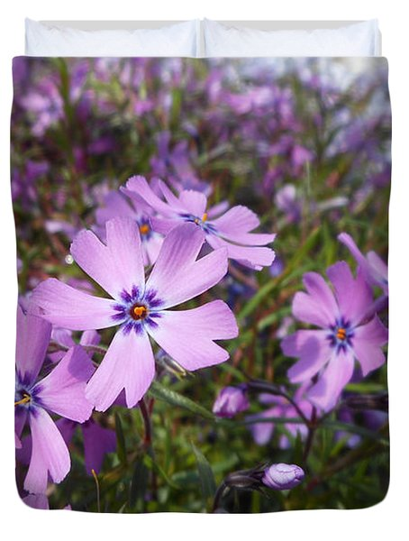 Beautiful Creeping Purple Phlox Duvet Cover