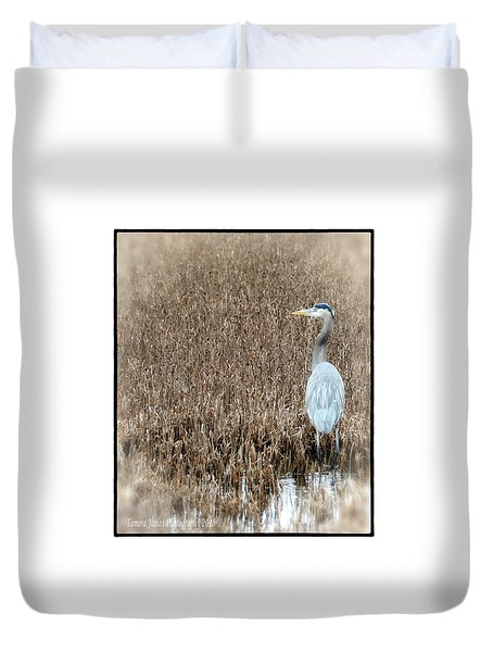 Swimming Alone Duvet Cover