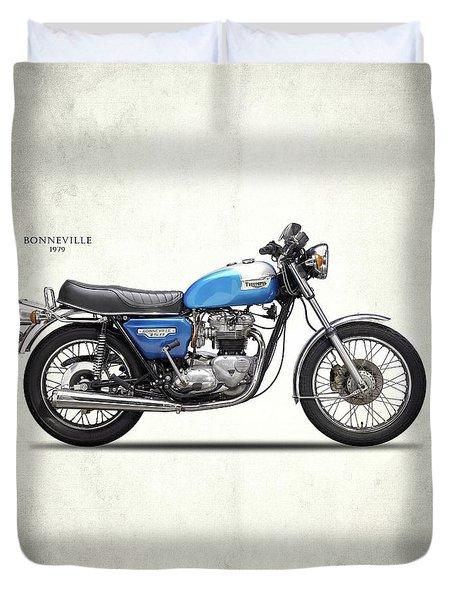 Bonneville T140 1979 Duvet Cover by Mark Rogan
