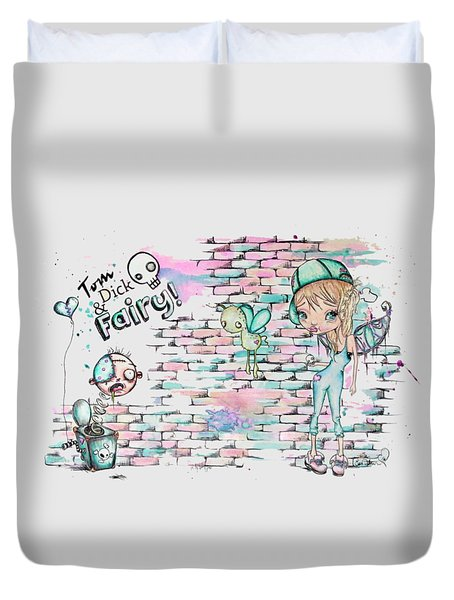 Tom Dick And Fairy Duvet Cover