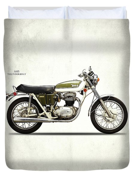 Bsa A65 Thunderbolt 1971 Duvet Cover