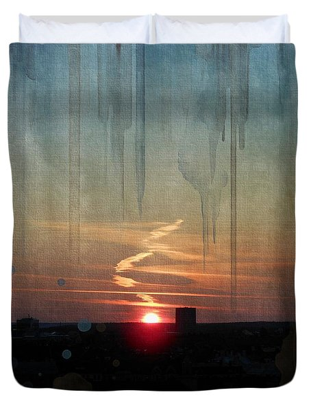 Urban Sunrise Duvet Cover