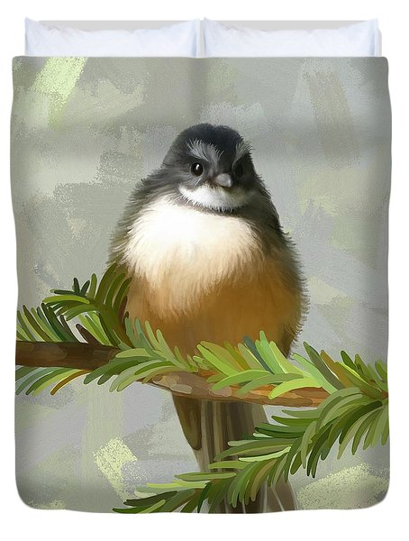 Duvet Cover featuring the painting Fantail  by Ivana Westin