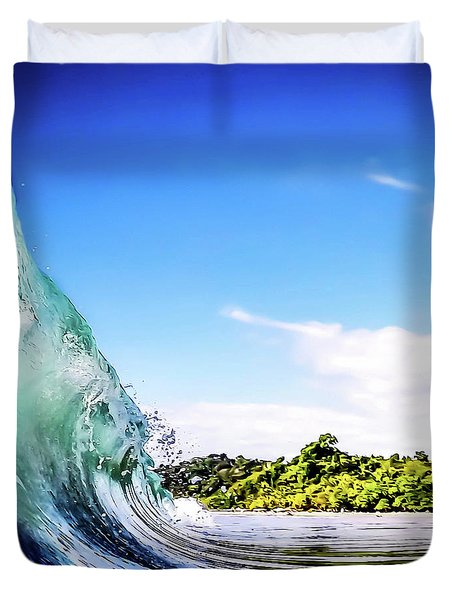 Duvet Cover featuring the photograph Tropical Wave by Nicklas Gustafsson
